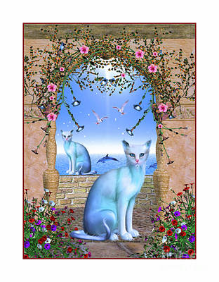 Digital Art - Cat Haven by Elaine Manley