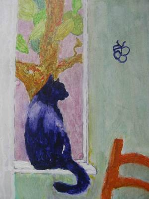 Painting - cat named Seamus by AJ Brown