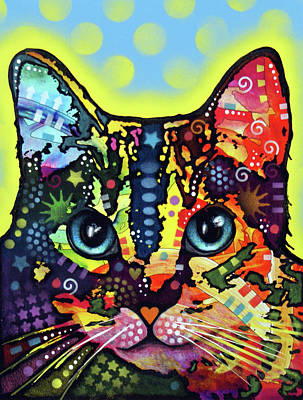 Painting - Cat On by Dean Russo Art
