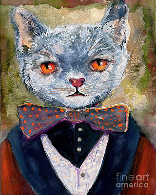 Painting - Cat Portrait Einstein by Ginette Callaway