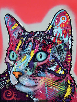 Painting - Cat Sideways by Dean Russo Art