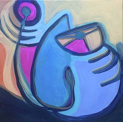 Painting - Cat With Fishbone by Cherylene Henderson