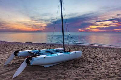 Photograph - Catamaran At Sunrise by Debra and Dave Vanderlaan