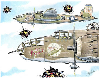 Drawing - Catch-22 by Barry Munden