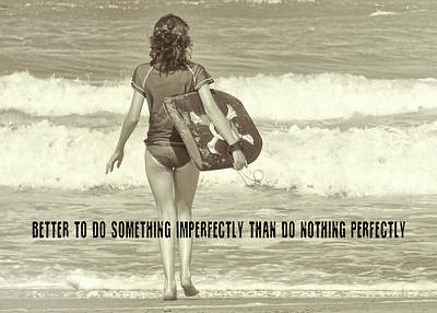 Photograph - Catch A Wave Quote by JAMART Photography