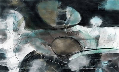 Painting - Catch Me If You Can - Large Contemporary Abstract Painting by Modern Art Prints
