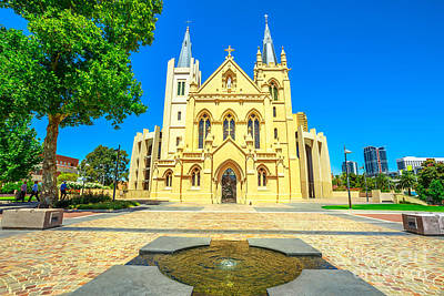 Photograph - Cathedral Facade In Perth by Benny Marty