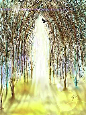 Digital Art - Cathedral Forest by Darren Cannell