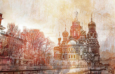 Just Desserts -  Cathedral in St. Petersburg in the spring by Maria Prokopeva