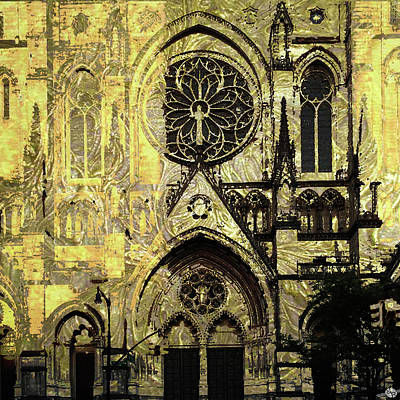 Painting - Cathedral New York by Tony Rubino