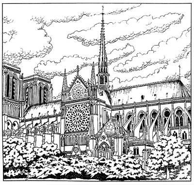 Painting - Notre Dame De Paris- Our Lady Of Paris by William Hart McNichols