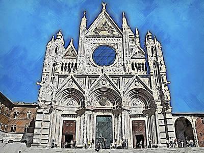 Painting - Cathedral Of Santa Maria Assunta, Siena - 05 by Andrea Mazzocchetti