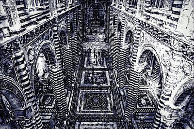 Painting - Cathedral Of Santa Maria Assunta, Siena - 06 by Andrea Mazzocchetti