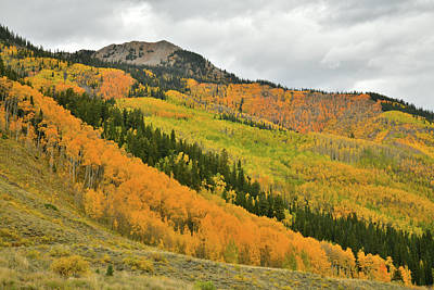 Photograph - Cathedral Peak Fall Colors by Ray Mathis