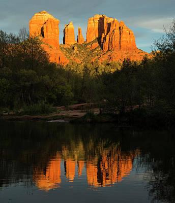 Oak Creek Canyon Wall Art - Photograph - Cathedral Rock Oak Creek Reflection At by Picturelake