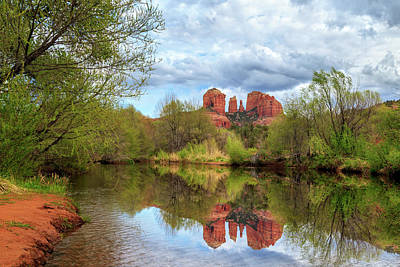 Cathedral Rock Reflection Art Print