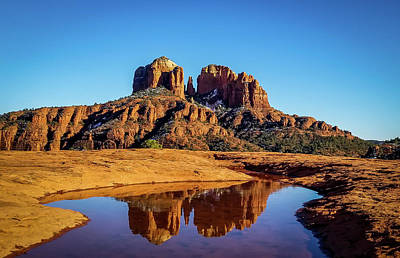 Photograph - Cathedral Rock Reflection by Terry Ann Morris