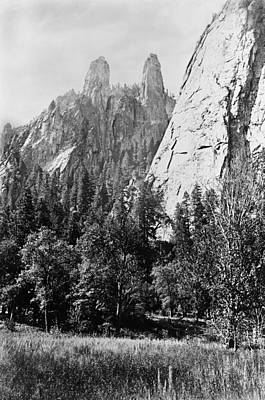 Photograph - Cathedral Spires by Carleton E. Watkins