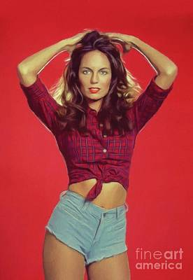 Painting Royalty Free Images - Catherine Bach, Actress Royalty-Free Image by Esoterica Art Agency