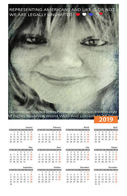 Painting - Catherine Lott Presidential Candidate Calendar by Catherine Lott
