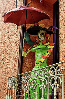 Photograph - Catrina Bonita In The Balcony by Tatiana Travelways