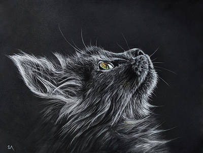Painting - Cats Dinner by Sean Afford
