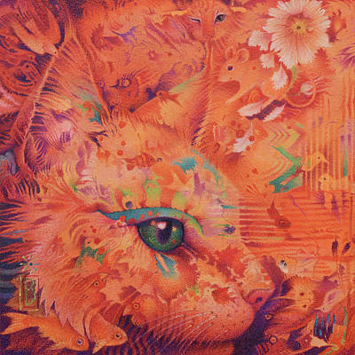 Painting - Cat's Eye by Lynn Bywaters
