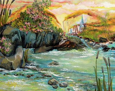 Cattail Falls Art Print