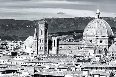 Photograph - Cattedrale Di Santa Maria Del Fiore Details by John Rizzuto