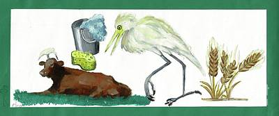 Cattle Egret Art Print by Sigalit Aharoni