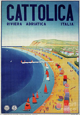 Drawing - Cattolica 1920 by Aapshop