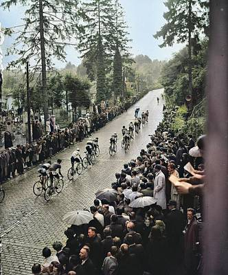 Design Turnpike Books Rights Managed Images - Cauberg Criterion 1946  climbing Nationaal Archief, Anefo, CC0 colorized by Ahmet Asar colorized b Royalty-Free Image by Ahmet Asar