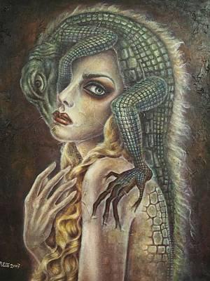 Fantasy Painting - Cauchemar-2 by Julie Kitamura