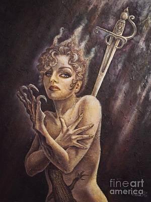 Fantasy Painting - Cauchemar by Julie Kitamura