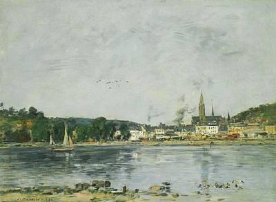 Shark Art - Caudebec-en-Caux, The Seine Embankment, 1889 by Eugene Boudin