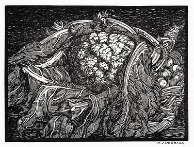 Painting - Cauliflower By Julie De Graag  1877 1924   by Celestial Images