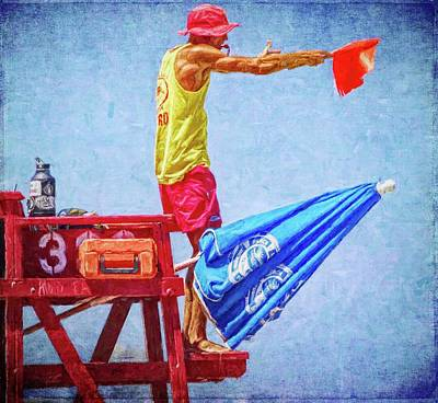 Photograph - Caution Flag by Alice Gipson