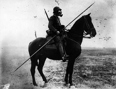 Cavalryman Art Print by Topical Press Agency