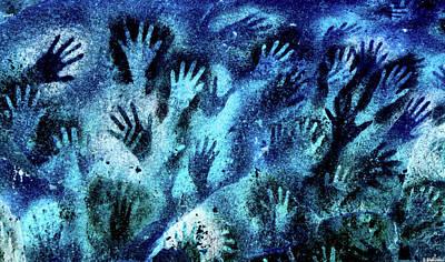 Digital Art - Cave Of The Hands - Cueva De Las Manos - Negative by Weston Westmoreland