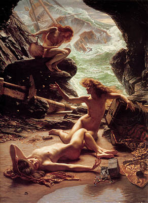 Painting - Cave Of The Storm Nymphs by Sir Edward Poynter