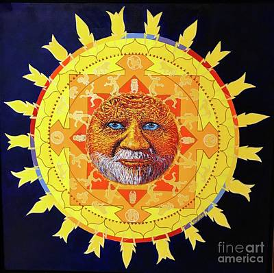 Cbs Sunday Morning Sun Mandala Art Print