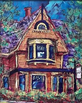 Painting - Cedar House by Les Leffingwell