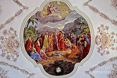 Photograph - Ceiling Fresco In Parish Church In Axams Tyrol by Elzbieta Fazel
