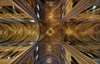 Photograph - Ceiling, Notre Dame Cathedral, Paris by Rainer Martini / Look-foto