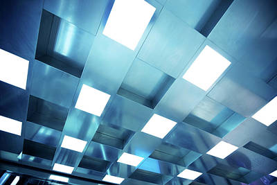Photograph - Ceiling With Fluorescent Light by Nikada