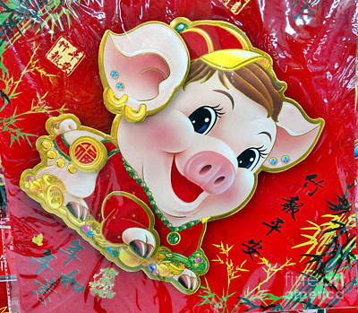 Photograph - Celebrate The Chinese New Year Of The Pig by Yali Shi