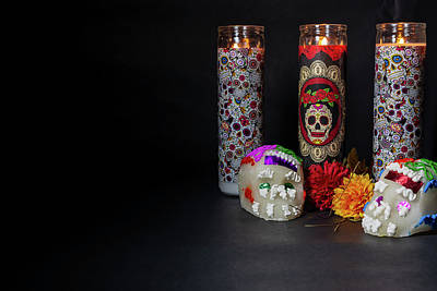 Photograph - Celebrating The Day Of The Dead by Miriam Bade