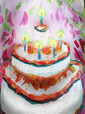 Painting - Celebration Cake by Tilly Strauss
