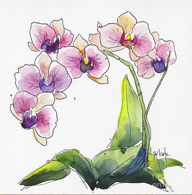 Painting - Celebratory Orchid by Pat Katz
