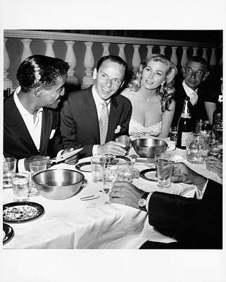 Photograph - Celebrities Dine At Romanoffs by Michael Ochs Archives
